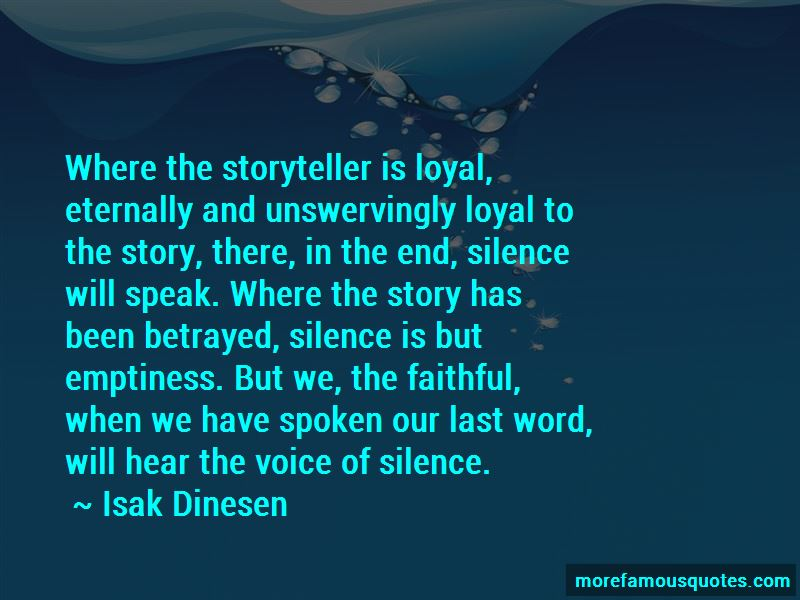 Voice Of Silence Quotes