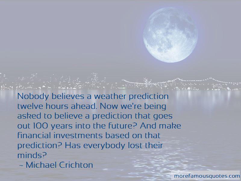Weather Prediction Quotes