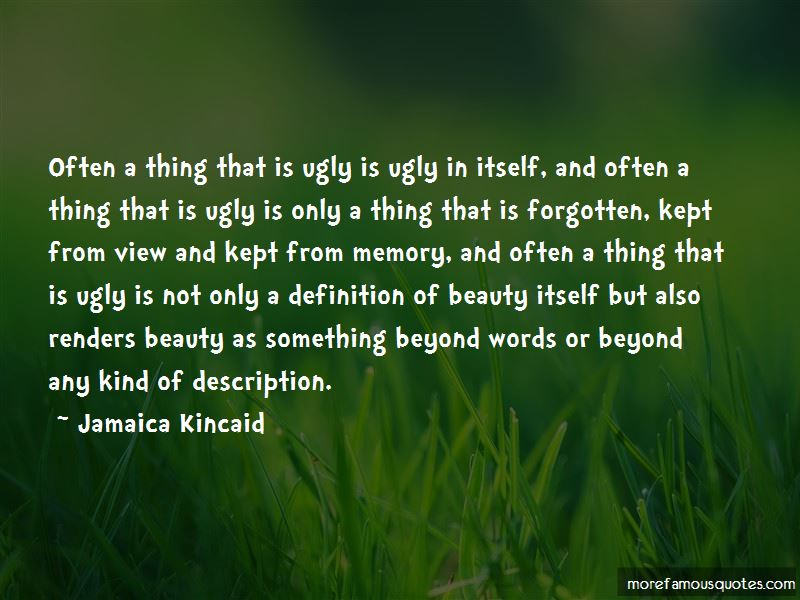 Beauty Beyond Words Quotes