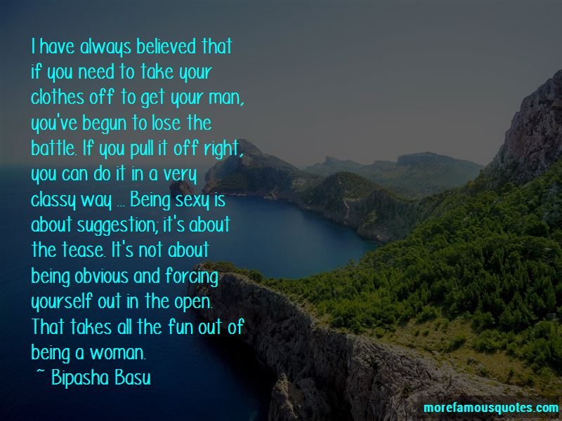 Being A Classy Man Quotes