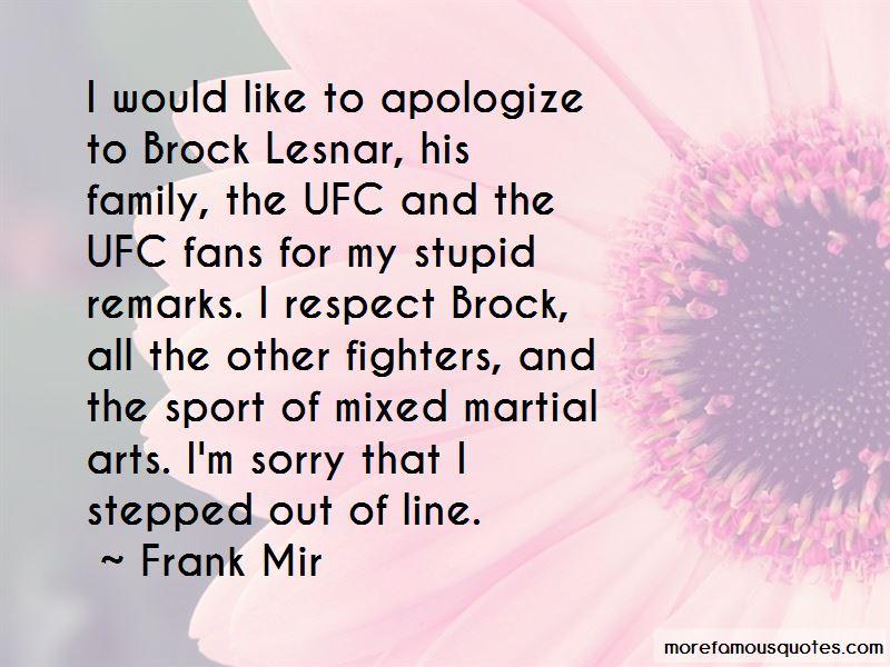 Brock Lesnar Ufc Quotes