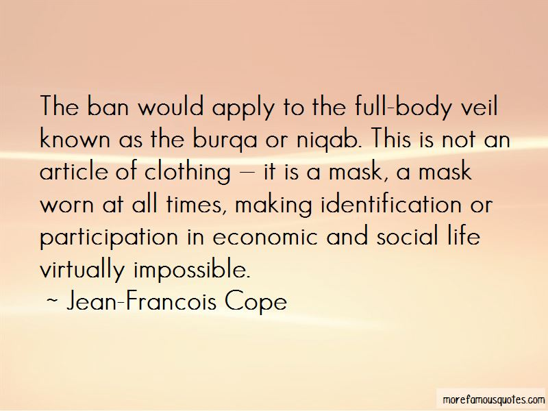 Burqa Ban Quotes