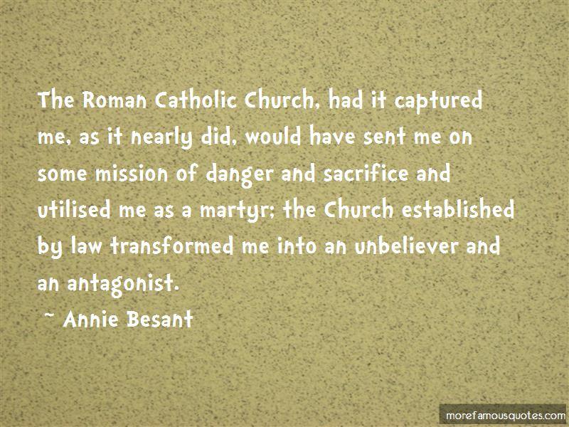 Catholic Martyr Quotes
