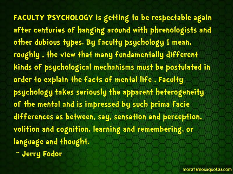 Cognition Psychology Quotes