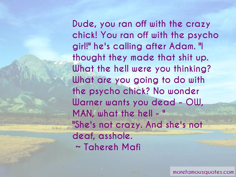 Crazy Psycho Girl Quotes