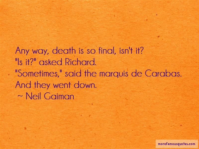 Death Is So Final Quotes