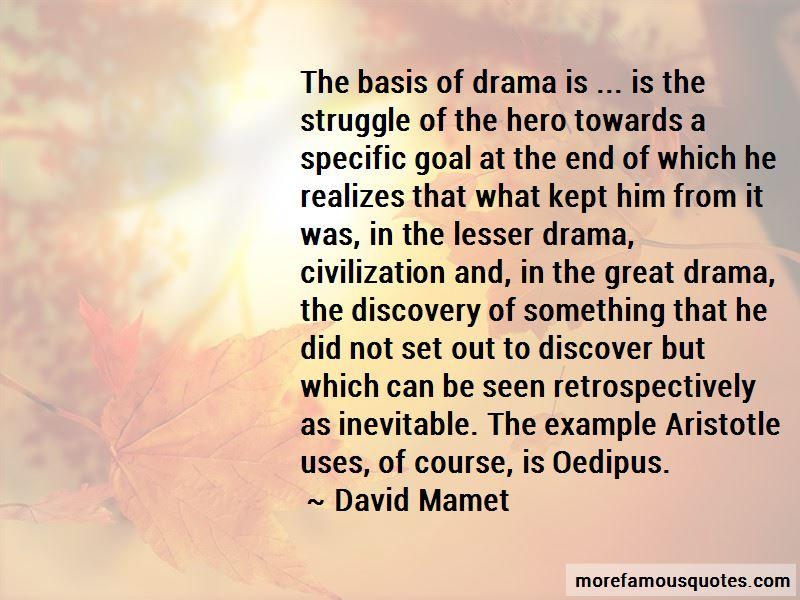 Drama Specific Quotes