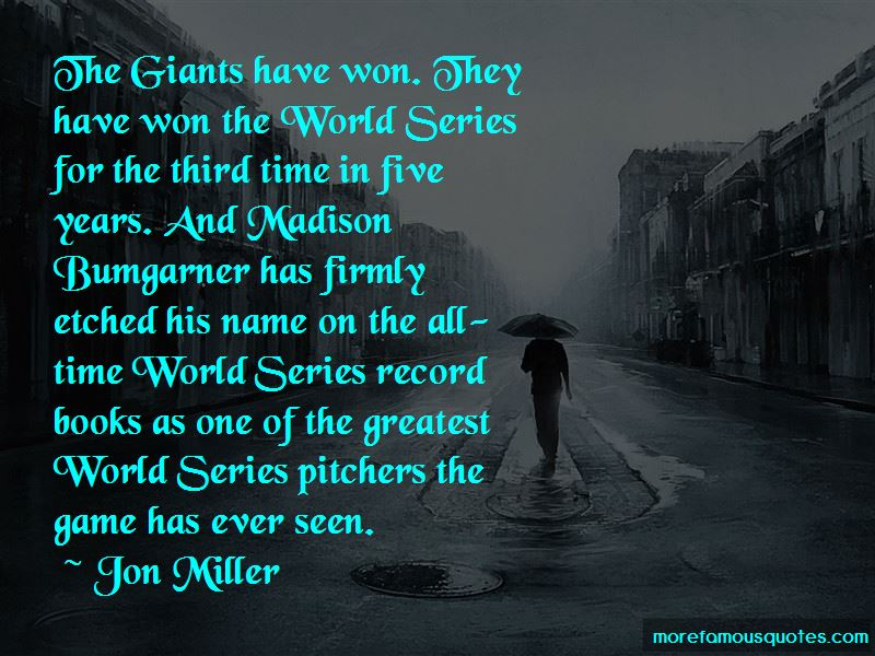 Giants World Series Quotes