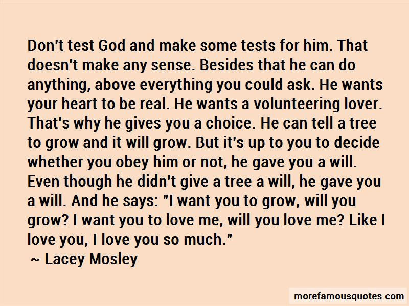 God Gives You Test Quotes