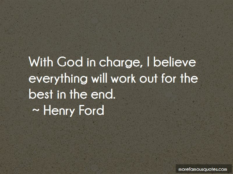God In Charge Quotes