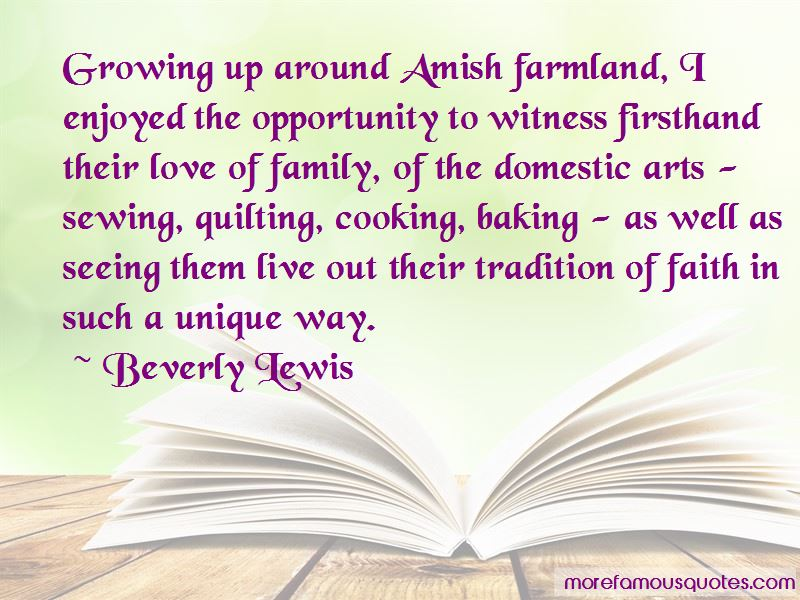 Growing Up Amish Quotes