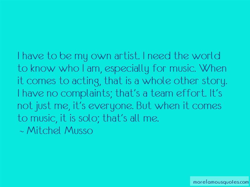 I Am My Team Quotes