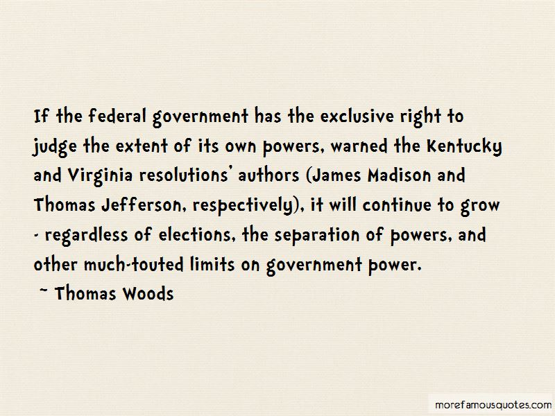 James Madison Separation Of Powers Quotes