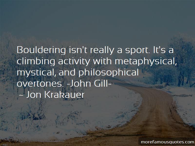 John Gill Climbing Quotes