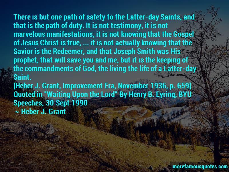 Latter Day Saint Prophet Quotes