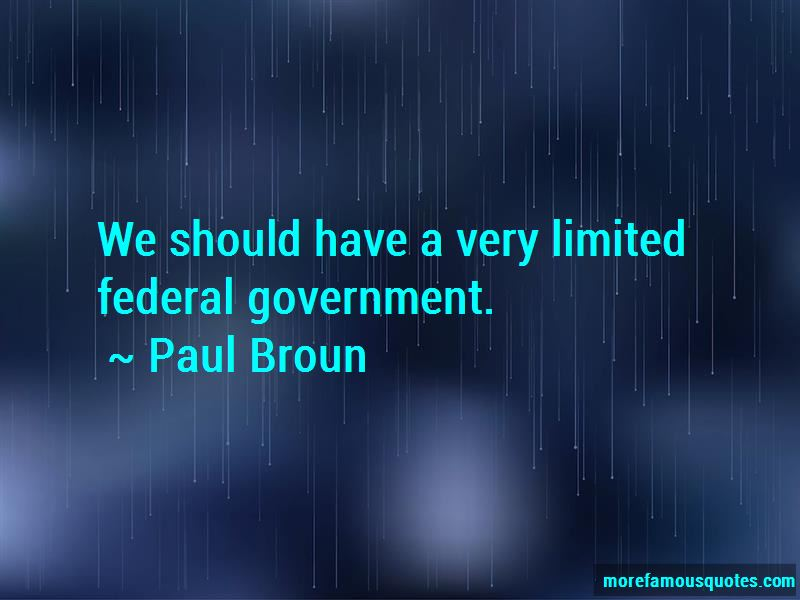 Limited Federal Government Quotes