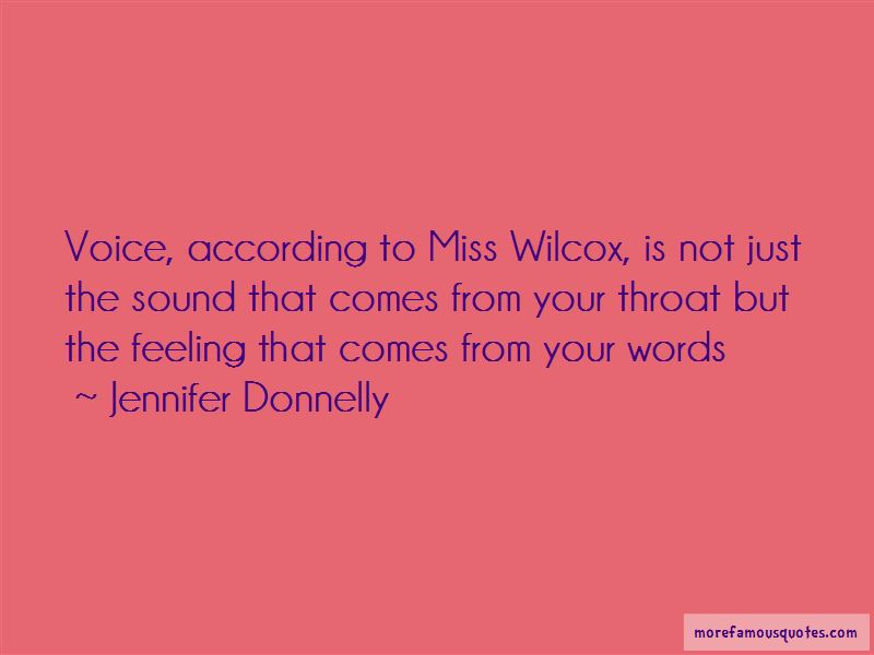 Miss Sound Your Voice Quotes