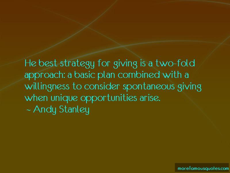Opportunities Arise Quotes