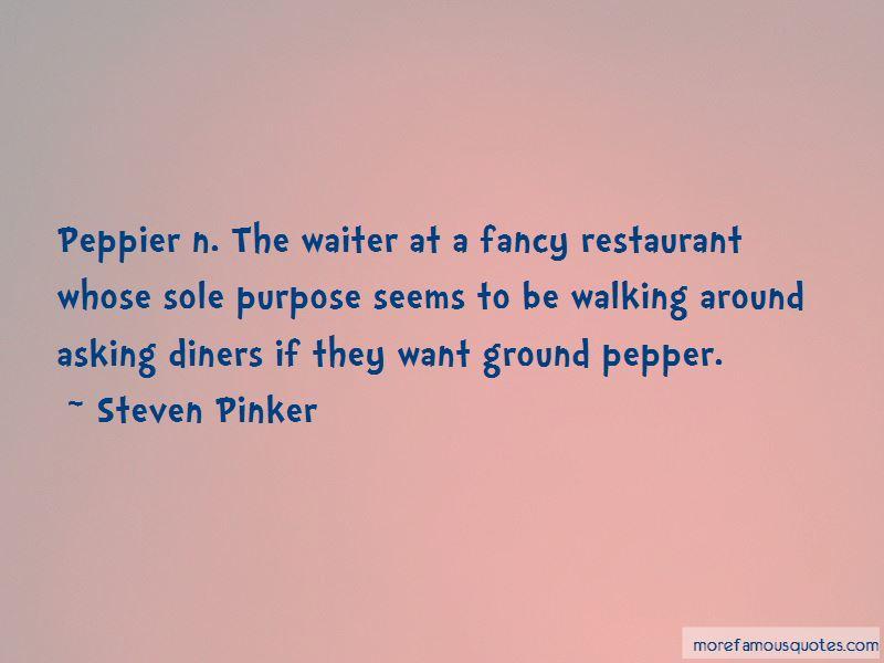 Restaurant Waiter Quotes