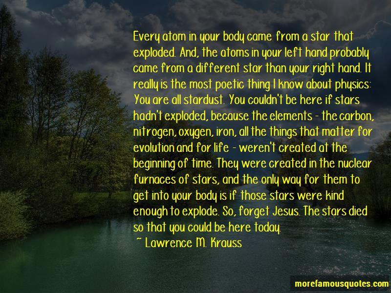 Stardust Atoms Quotes