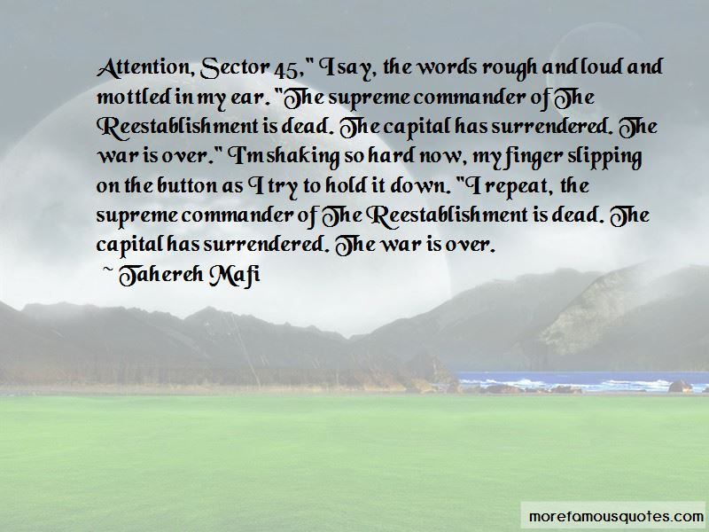Supreme Commander Quotes