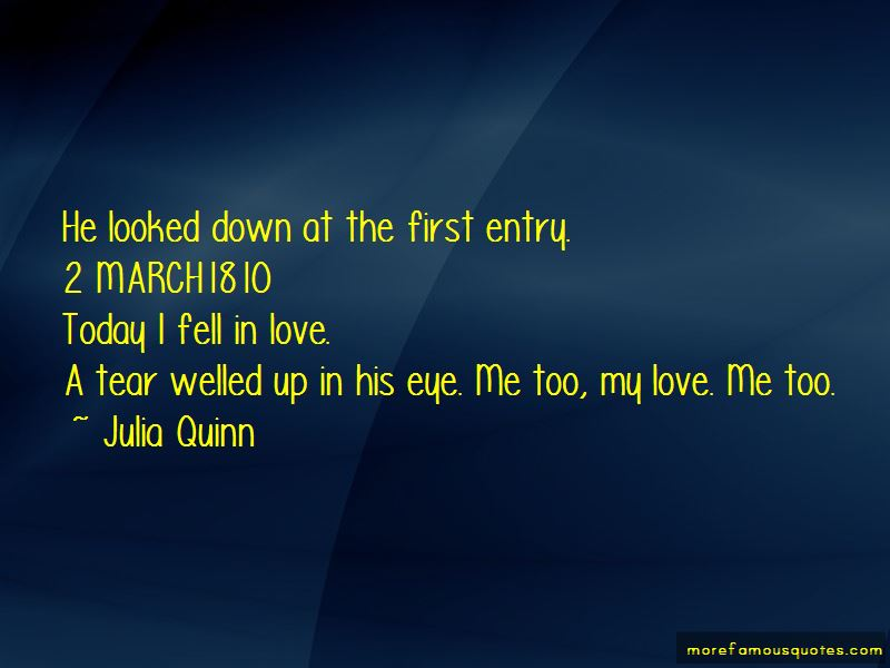 Today I Fell In Love Quotes
