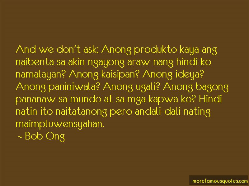 Ugali Mo Quotes Pictures 3