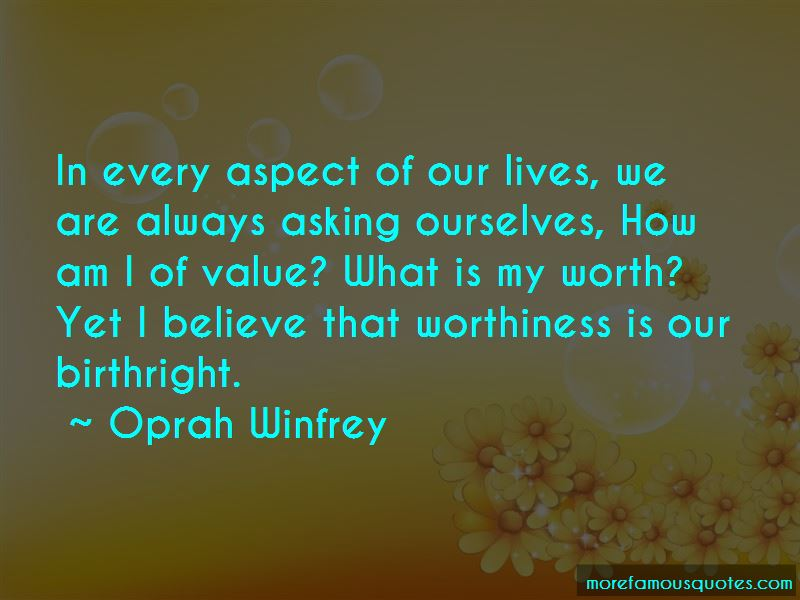 What Is My Worth Quotes