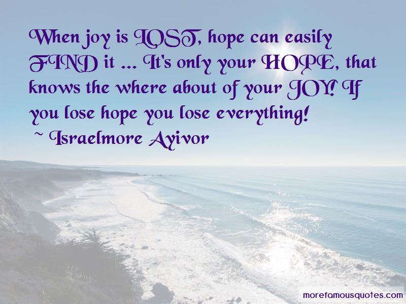 You Lose Everything Quotes