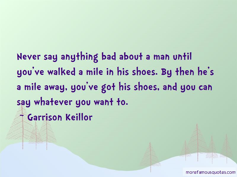 A Mile In His Shoes Quotes