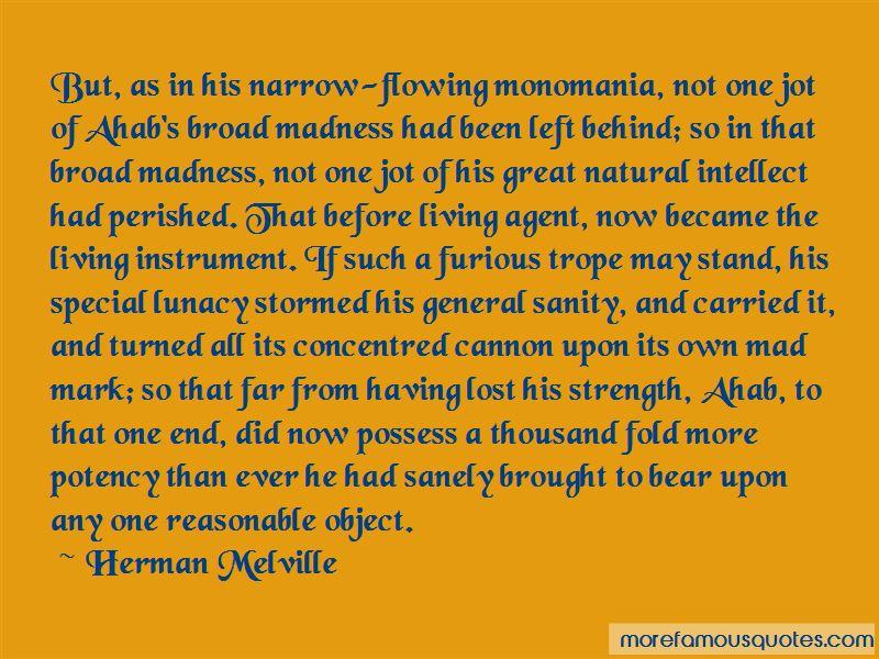 Ahab Monomania Quotes