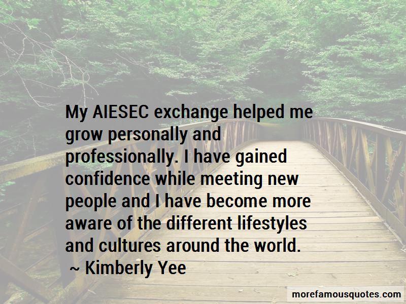 Aiesec Exchange Quotes