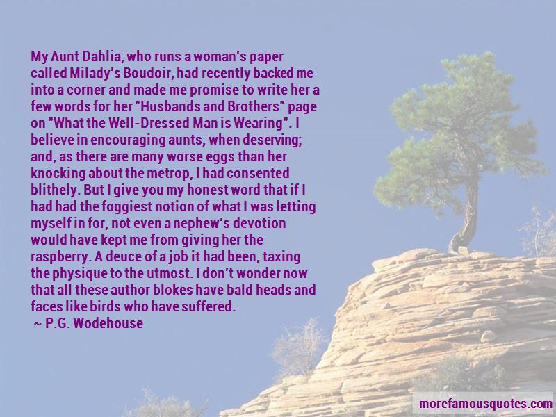 Aunt Dahlia Quotes