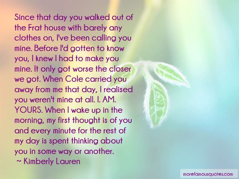 Calling You Mine Quotes