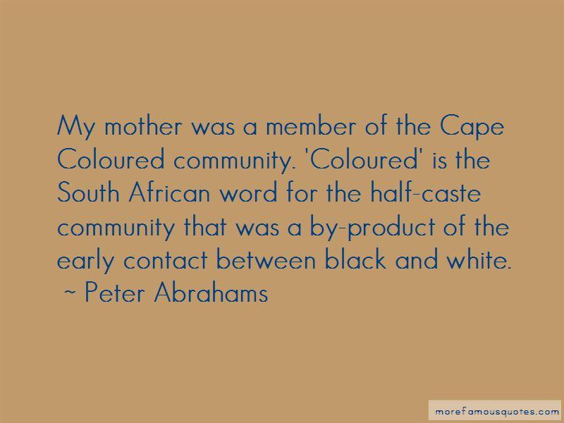 Cape Coloured Quotes
