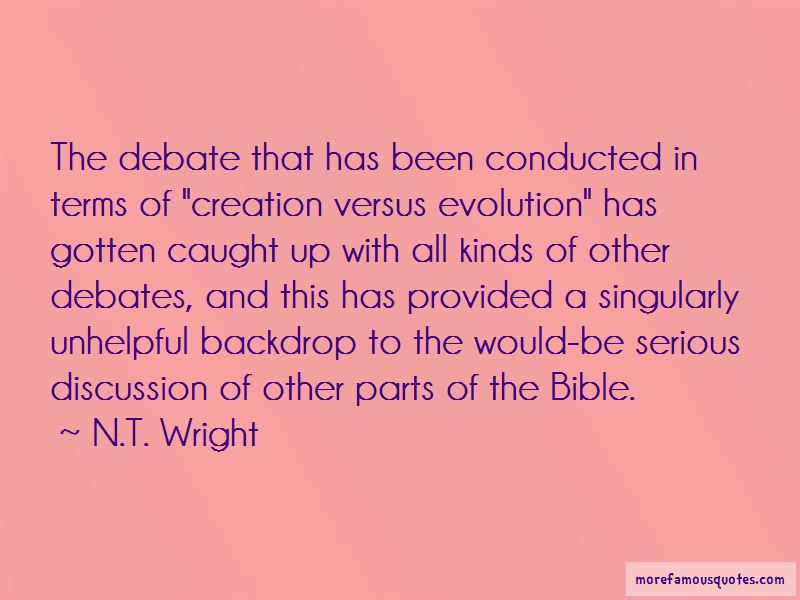 a personal stance on the creationism versus evolution debate Evolution and creationism in public schools theology religion essay jeannette almeida aiu online abstract studies show that there is a prevalent degree of disagreement between students and instructors concerning the topic of evolution and creationism in public schools.