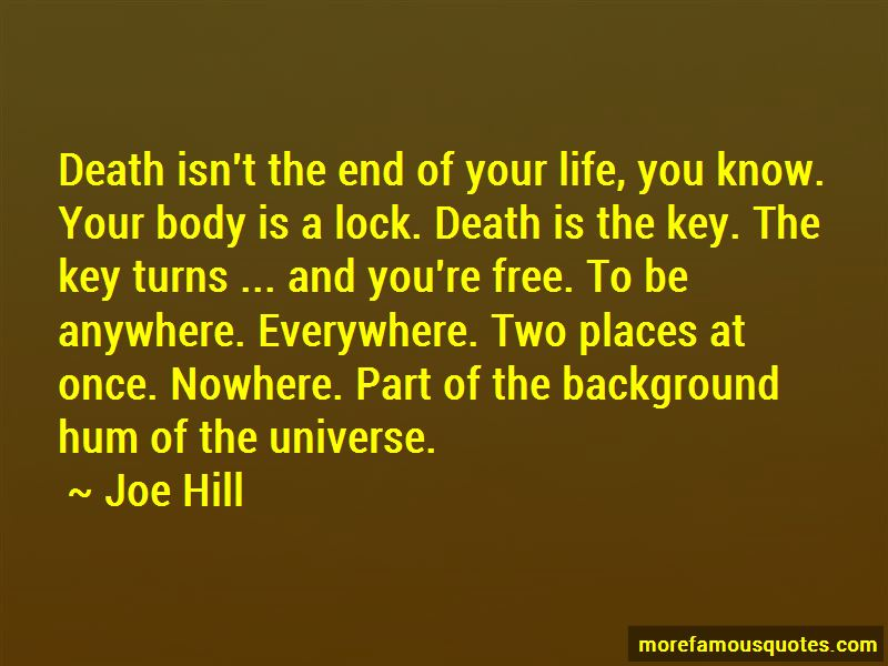 Death Isn't The End Quotes