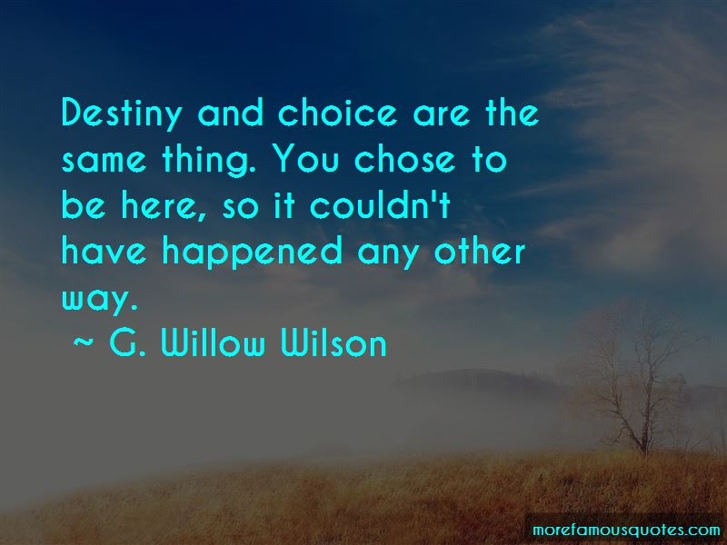 Destiny And Choice Quotes