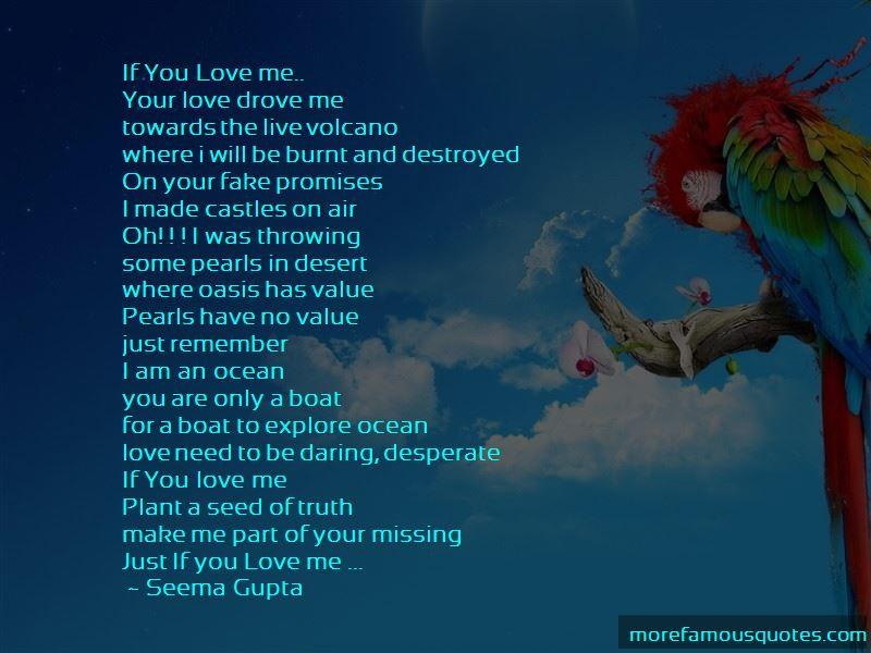 Fake Love Promises Quotes