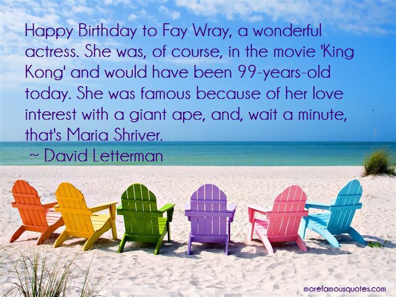 Fay Wray King Kong Quotes
