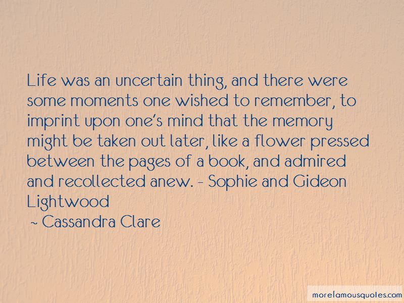 Gideon And Sophie Quotes