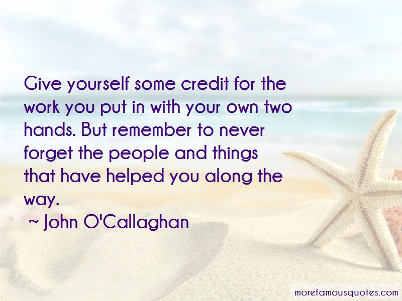 Give Yourself Some Credit Quotes
