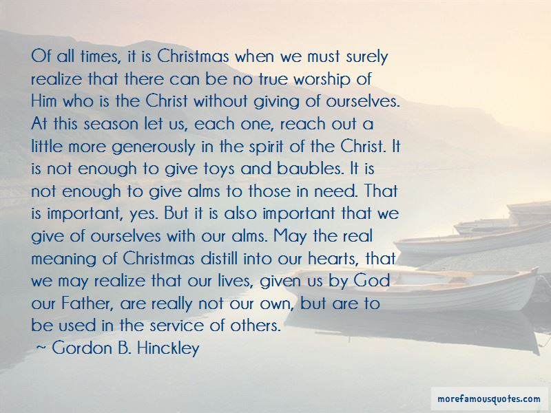 Giving To Others Christmas Quotes
