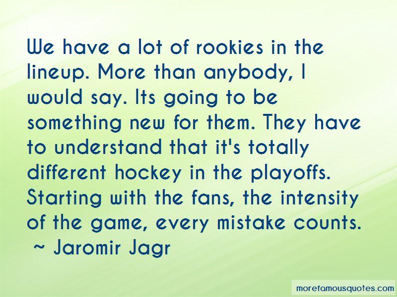 Hockey Playoffs Quotes
