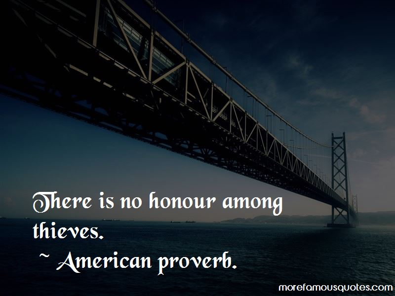 Honour Among Thieves Quotes