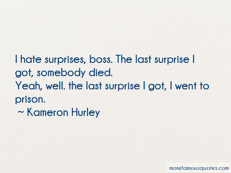 I Hate Surprises Quotes Pictures 2