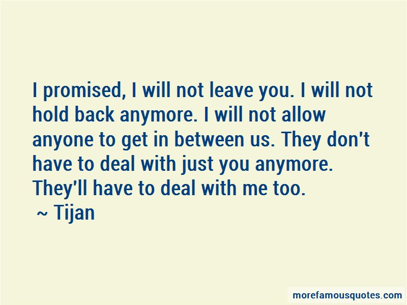 I Will Get You Back Quotes