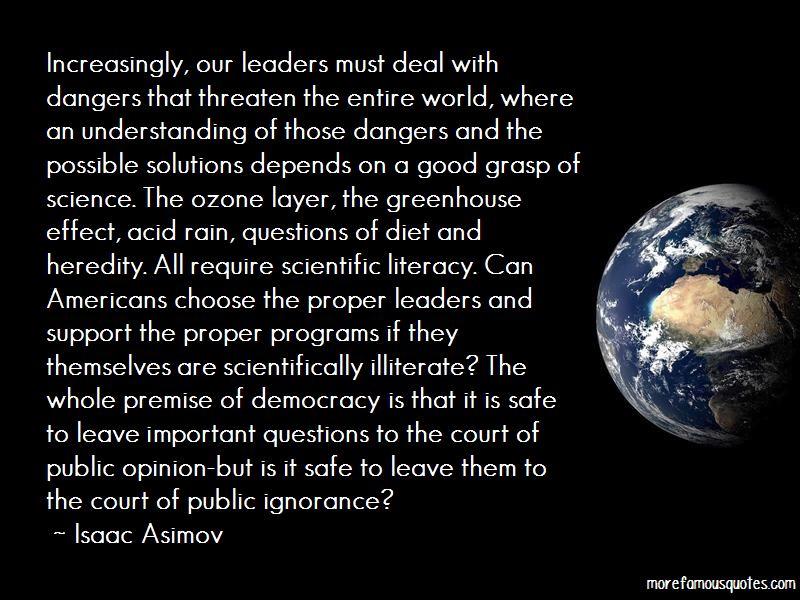 Illiterate Leaders Quotes