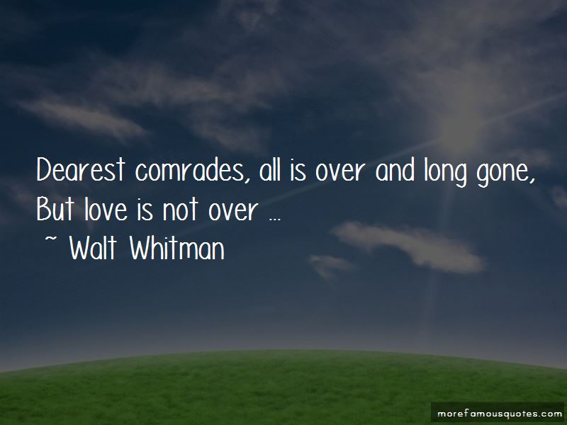 Love Is Not Over Quotes