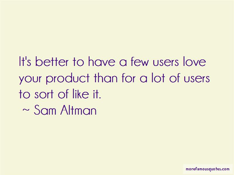 Love Users Quotes